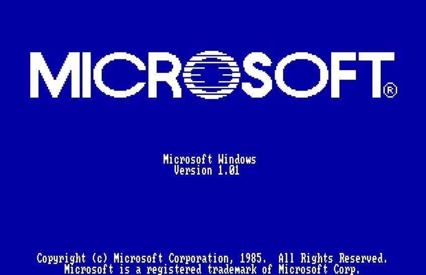 Microsoft Windows Version 1.01